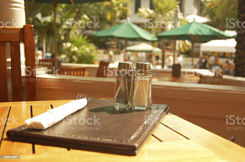 cafe meal setting stock photo