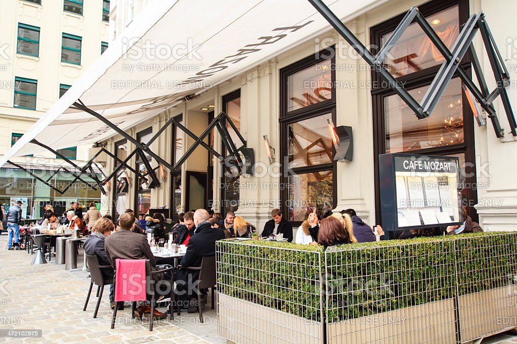 Cafe Mozart in Vienna royalty-free stock photo