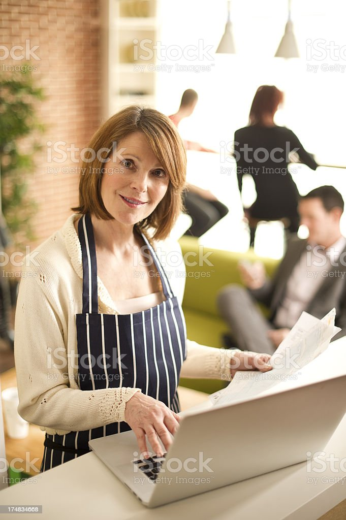 cafe owner royalty-free stock photo