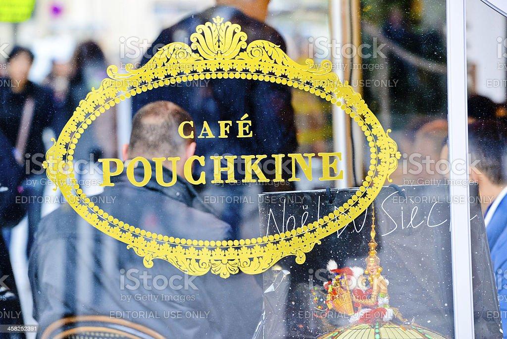 Cafe Pouchkine, Paris stock photo