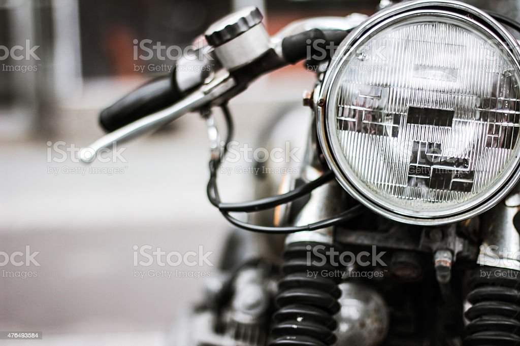 Cafe Racer Headlight stock photo