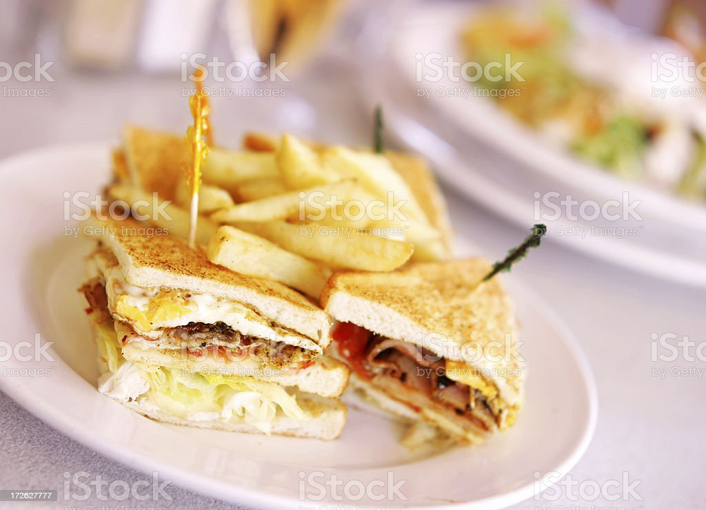 Cafe Sandwiches royalty-free stock photo