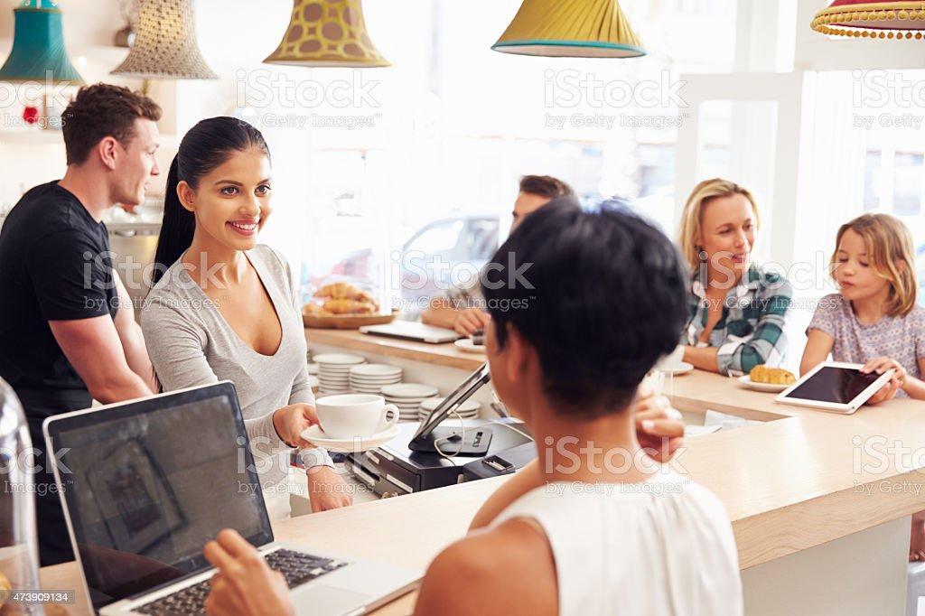 Cafe scene stock photo