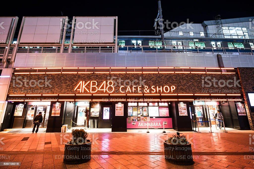 AKB48 Cafe & Shop in Akihabara stock photo