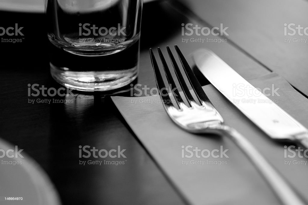 Cafe Table Setting royalty-free stock photo