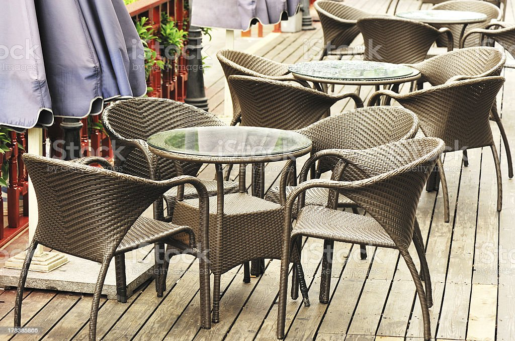 cafe tables and seats royalty-free stock photo