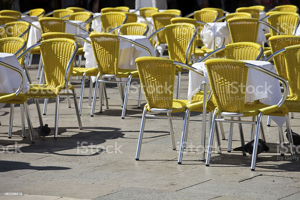 Cafe tables in Venice royalty-free stock photo