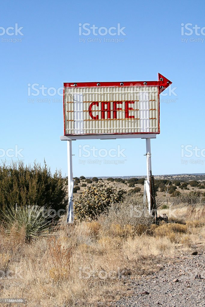 cafe - this way royalty-free stock photo