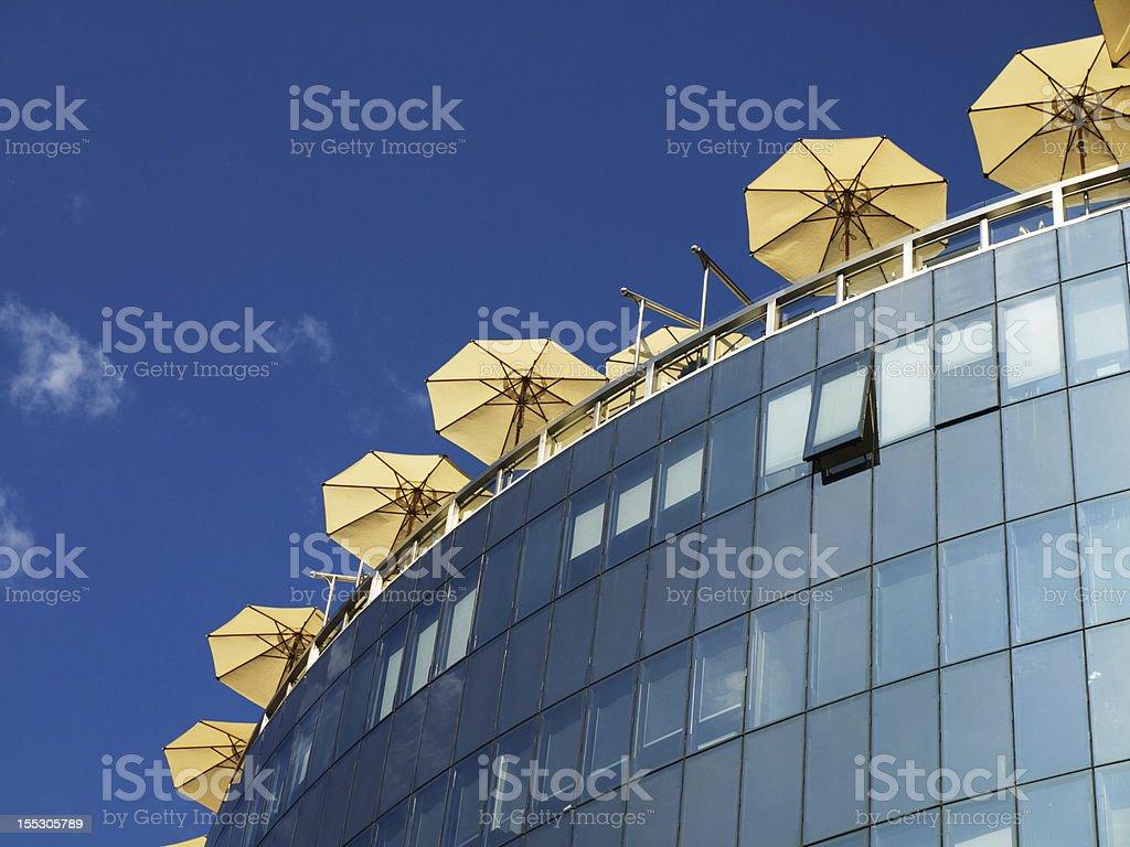 Cafe umbrellas royalty-free stock photo