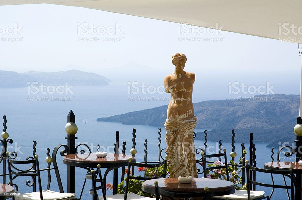 Cafe with amazing views stock photo