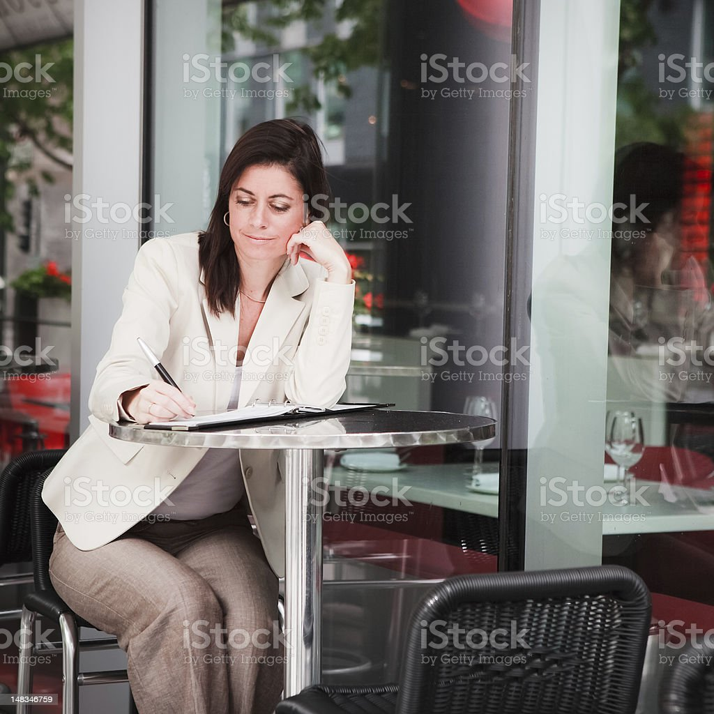 Cafe Woman royalty-free stock photo