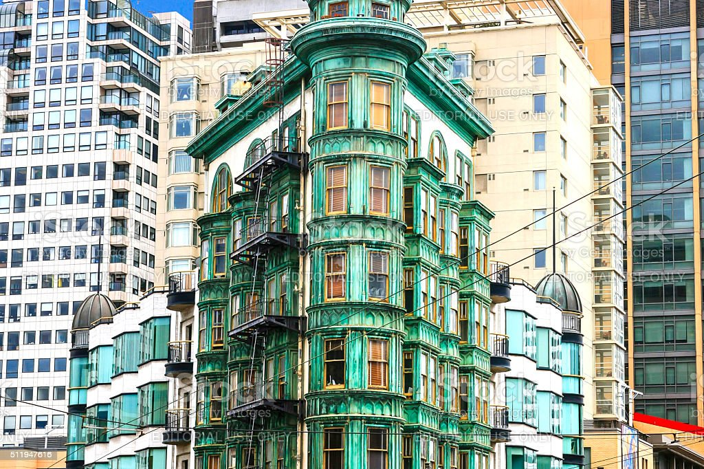 Cafe Zoetrope in San Francisco CA stock photo