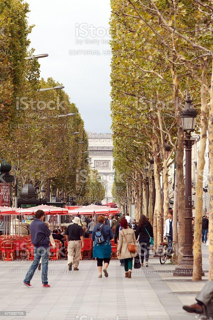 Cafes des Champs-?lys?es royalty-free stock photo