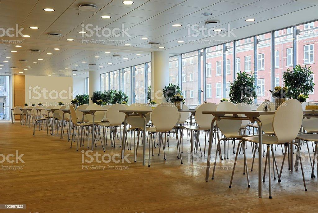 Cafeteria interior stock photo