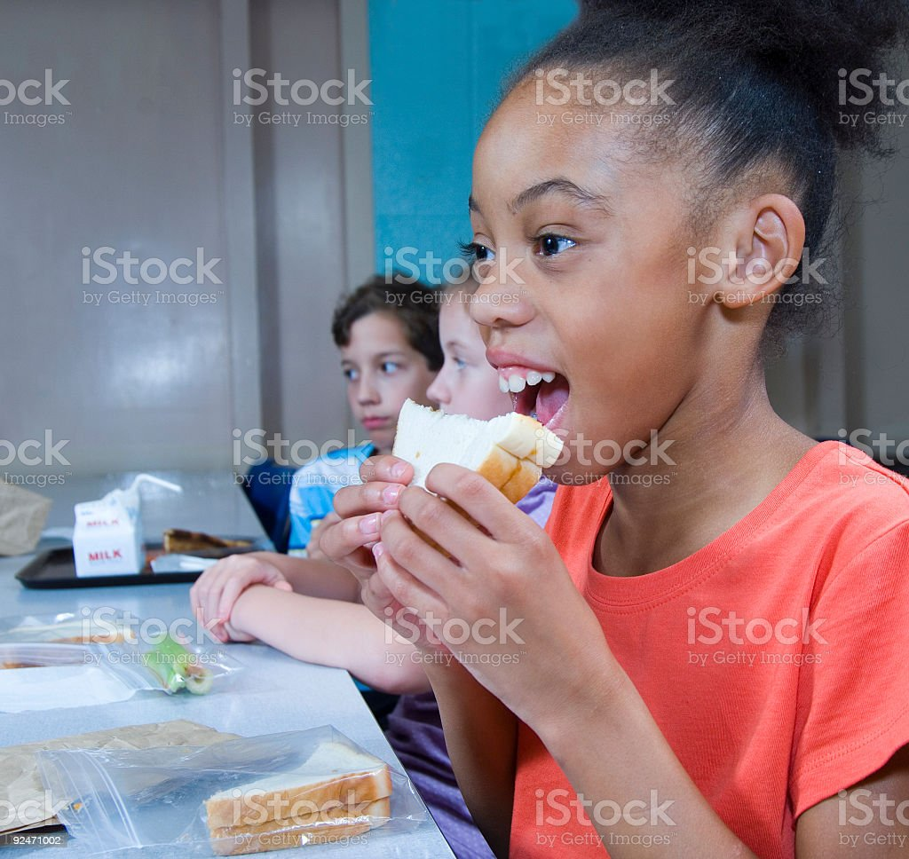 cafeteria lunch royalty-free stock photo