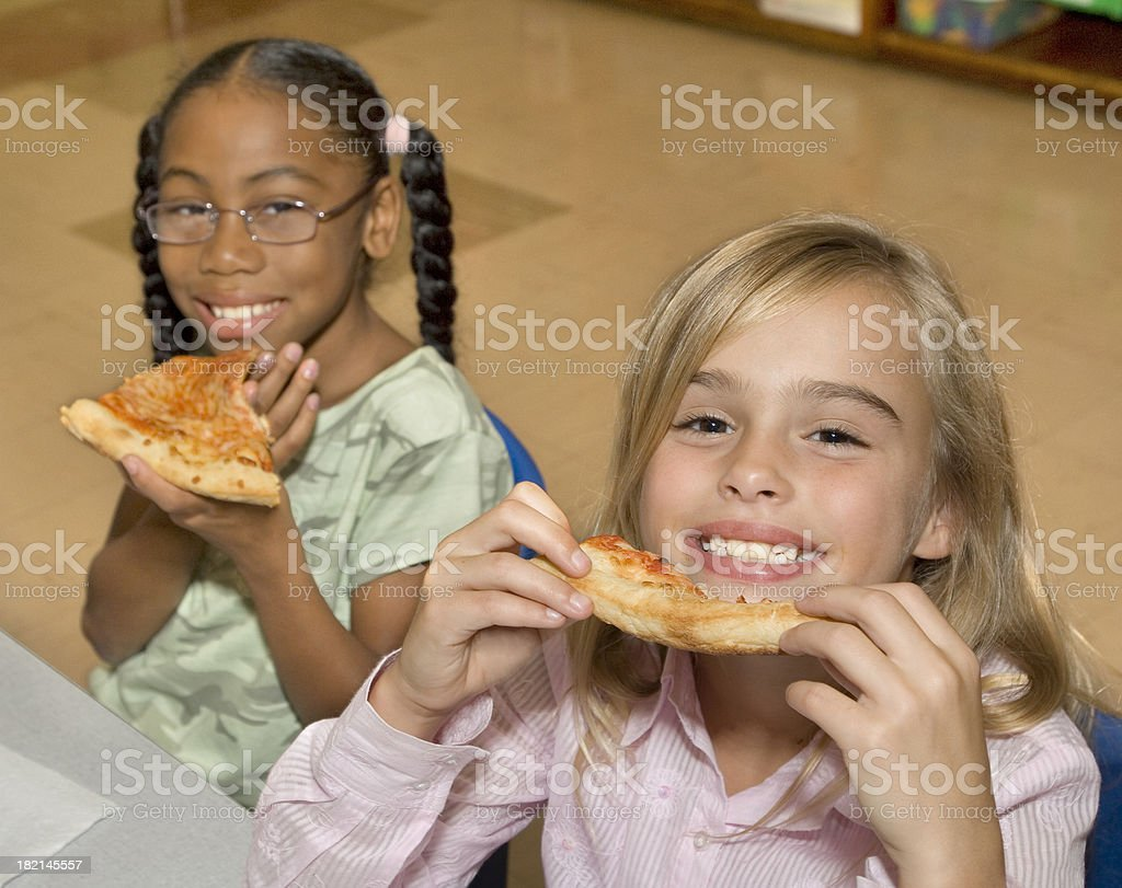 Cafeteria pizza royalty-free stock photo