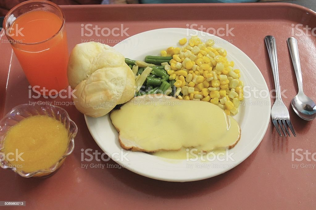 Cafeteria Tray of Food stock photo