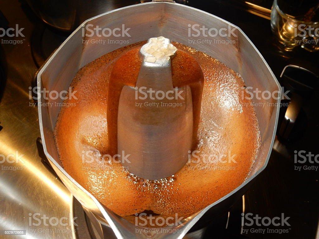 Caffè di moka deformato stock photo