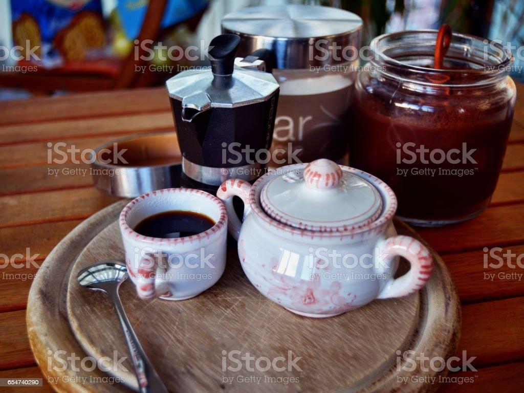 caffè espresso italiano stock photo