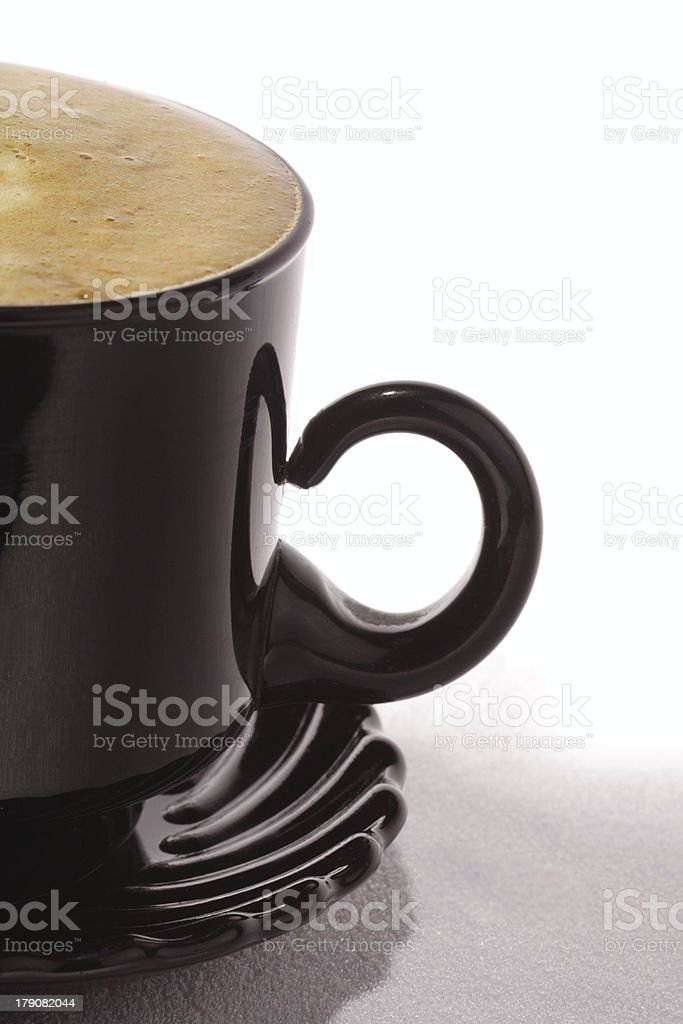 caffee cup with cappuccino royalty-free stock photo