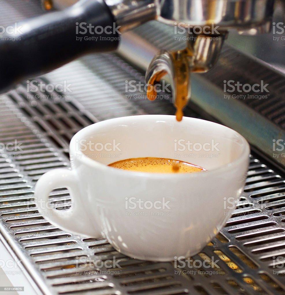 Caffeine fix almost ready stock photo
