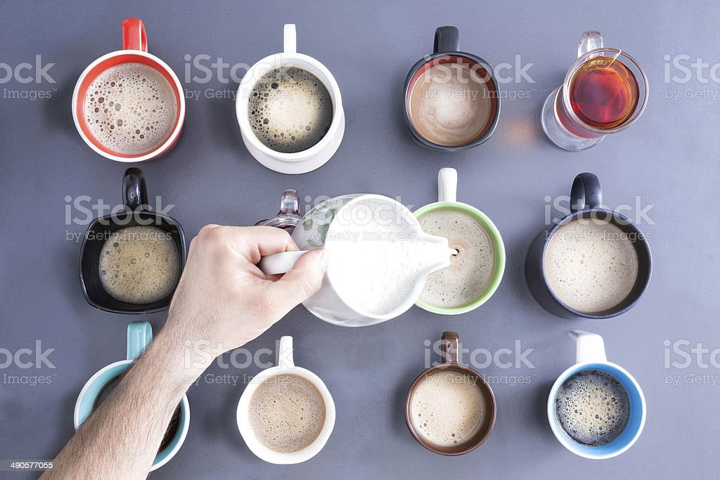 Caffeine For Mass People Concept stock photo