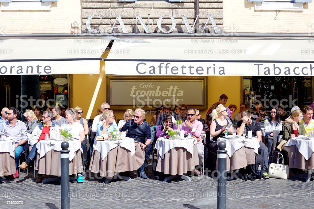 Caffetteria in Rome. stock photo