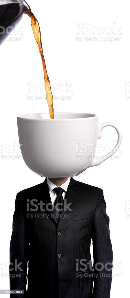 Caffinated Businessman royalty-free stock photo
