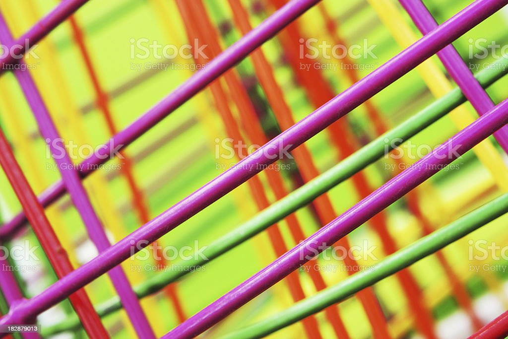 Cage Wire Pastel Abstract royalty-free stock photo