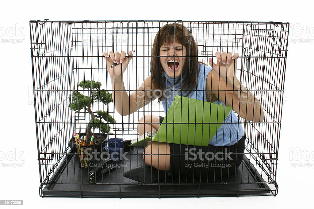 Caged stock photo