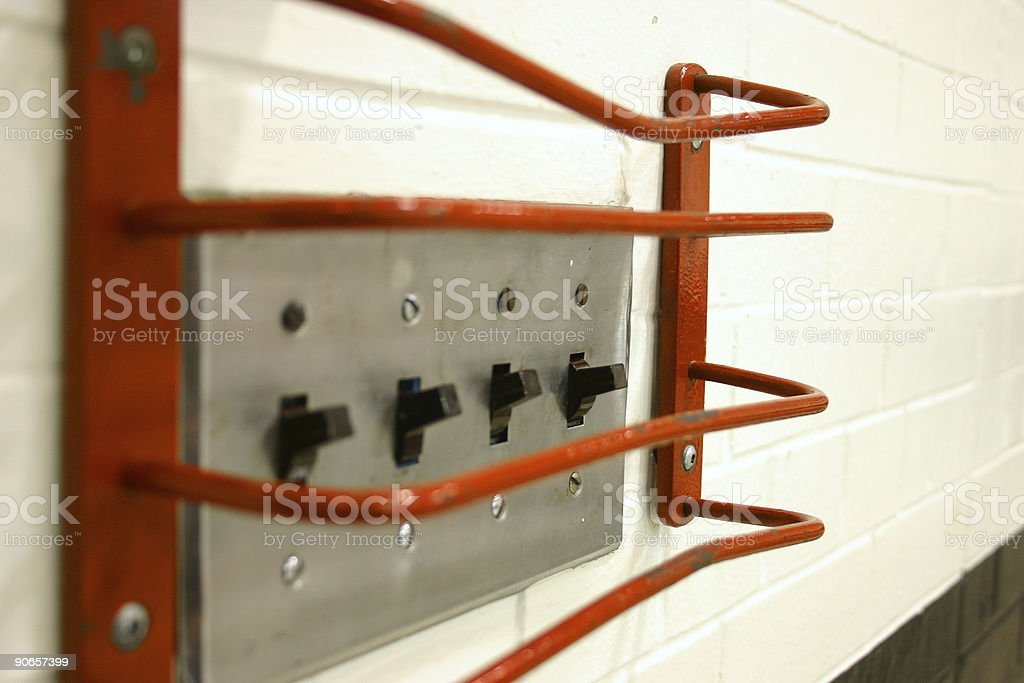 caged switches2 royalty-free stock photo