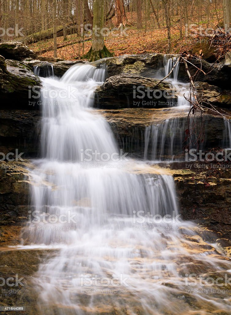 Cagle's Mill Dam Waterfall, Indiana stock photo