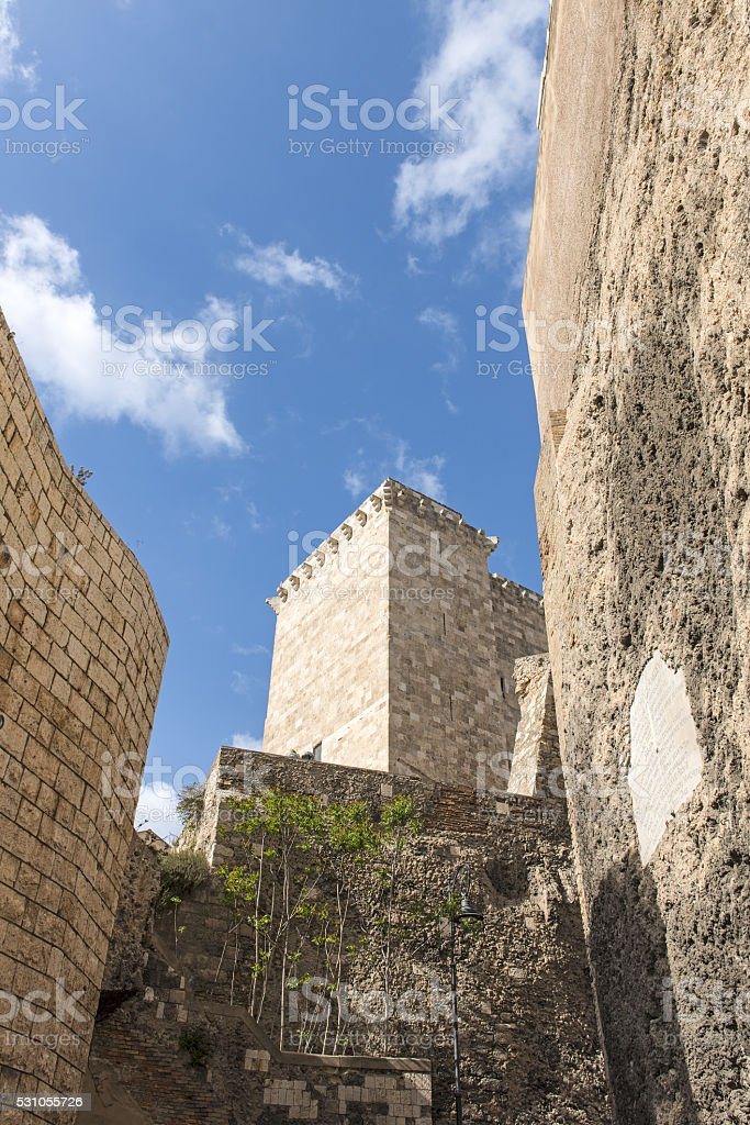 Cagliari, citadel tower stock photo