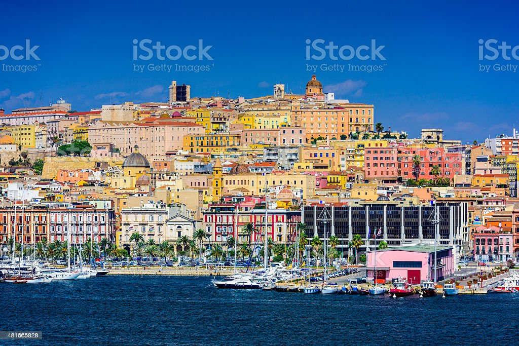 Cagliari Cityscape stock photo