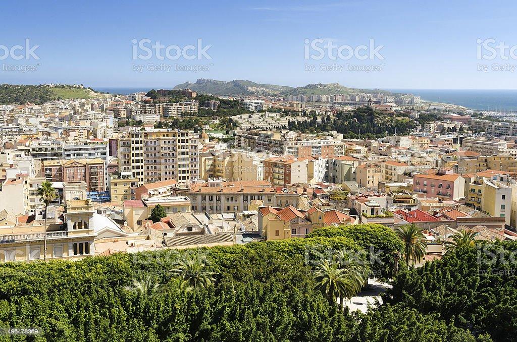 Cagliari, cityscape royalty-free stock photo