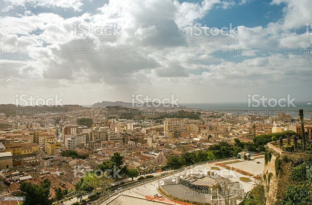 Cagliari, cityscape stock photo