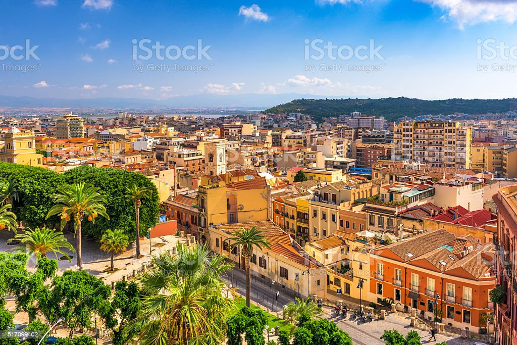 Cagliari, Italy Cityscape stock photo