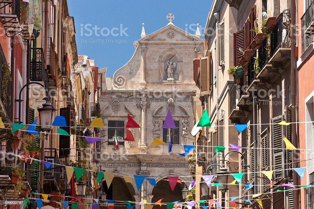 Cagliari stock photo