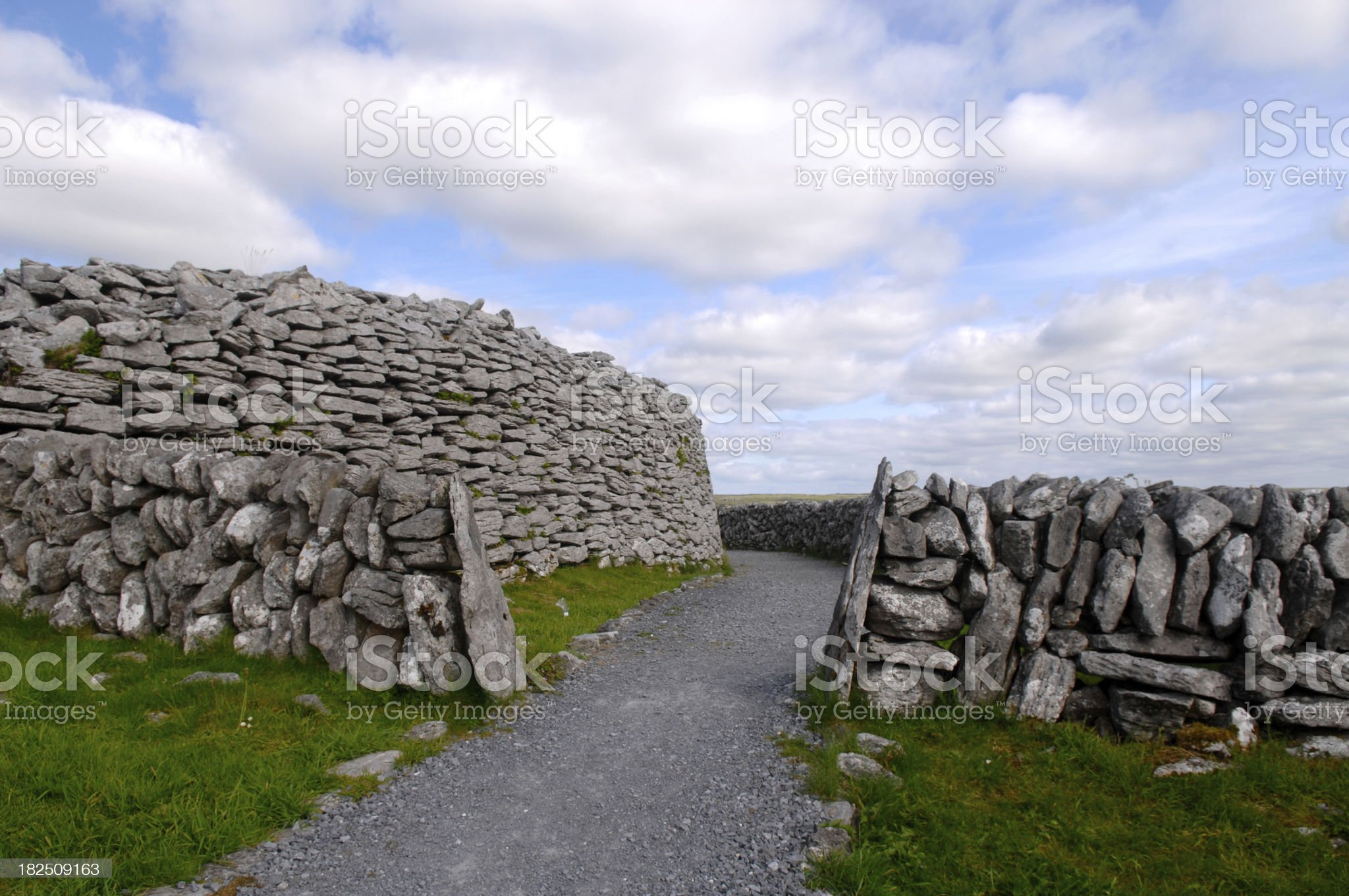 Caherconnell Stone Fort royalty-free stock photo