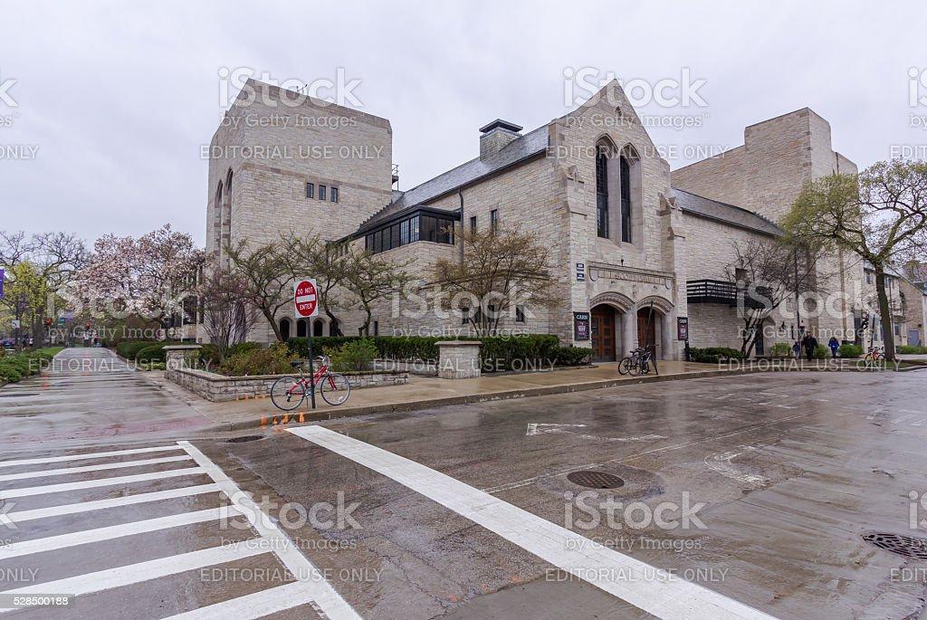Cahn Auditorium at Northwestern stock photo