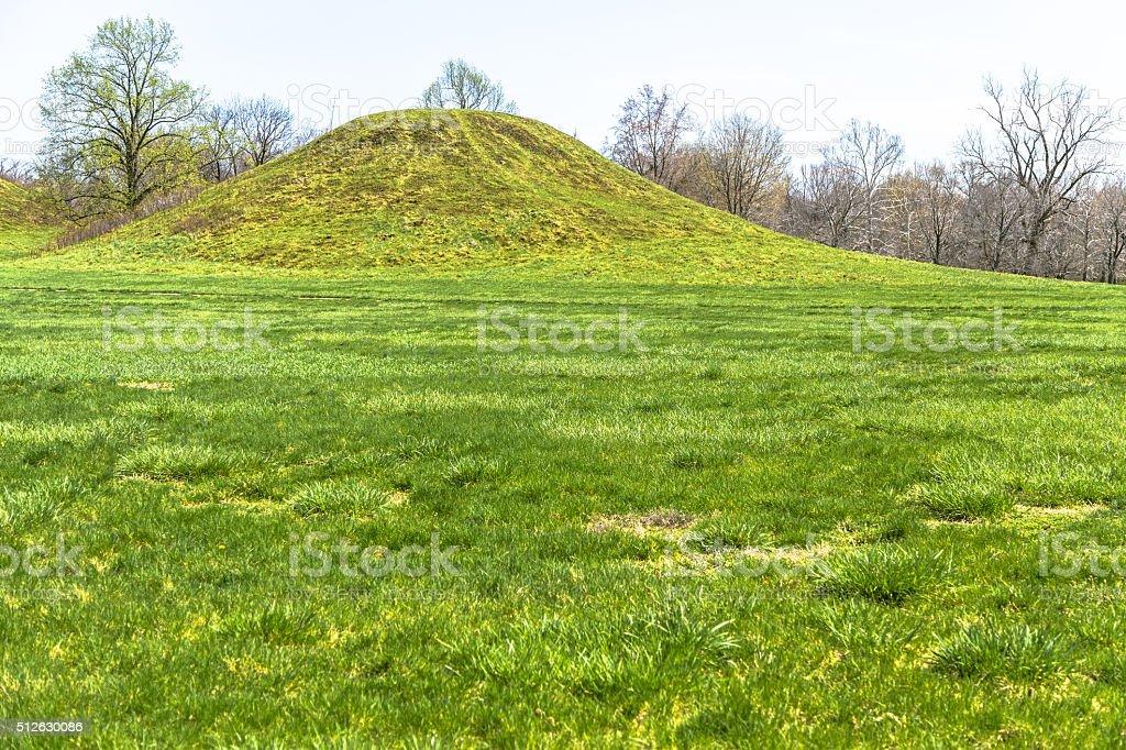 Cahokia Mounds stock photo