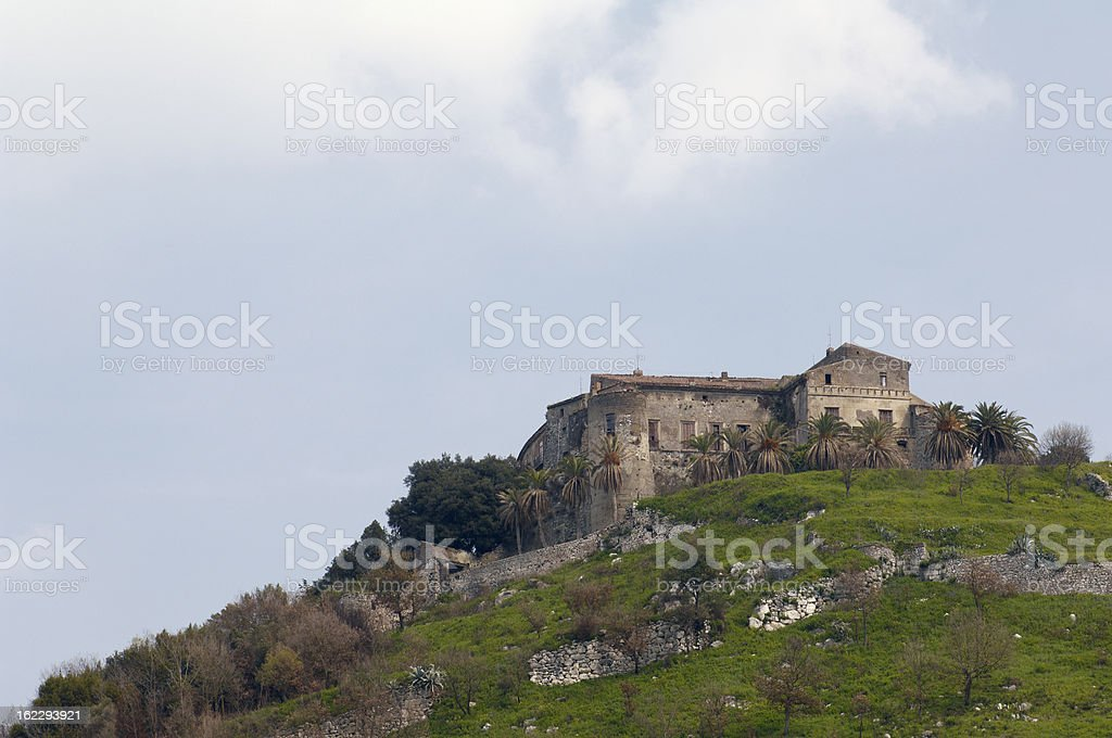 Caiazzo Castle stock photo