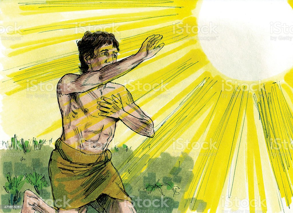 Cain Hears God's Punishment stock photo