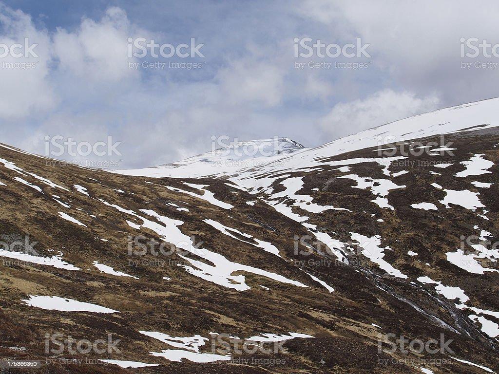 Cainrgorms mountains, Braeriach  area, Scotland in spring stock photo