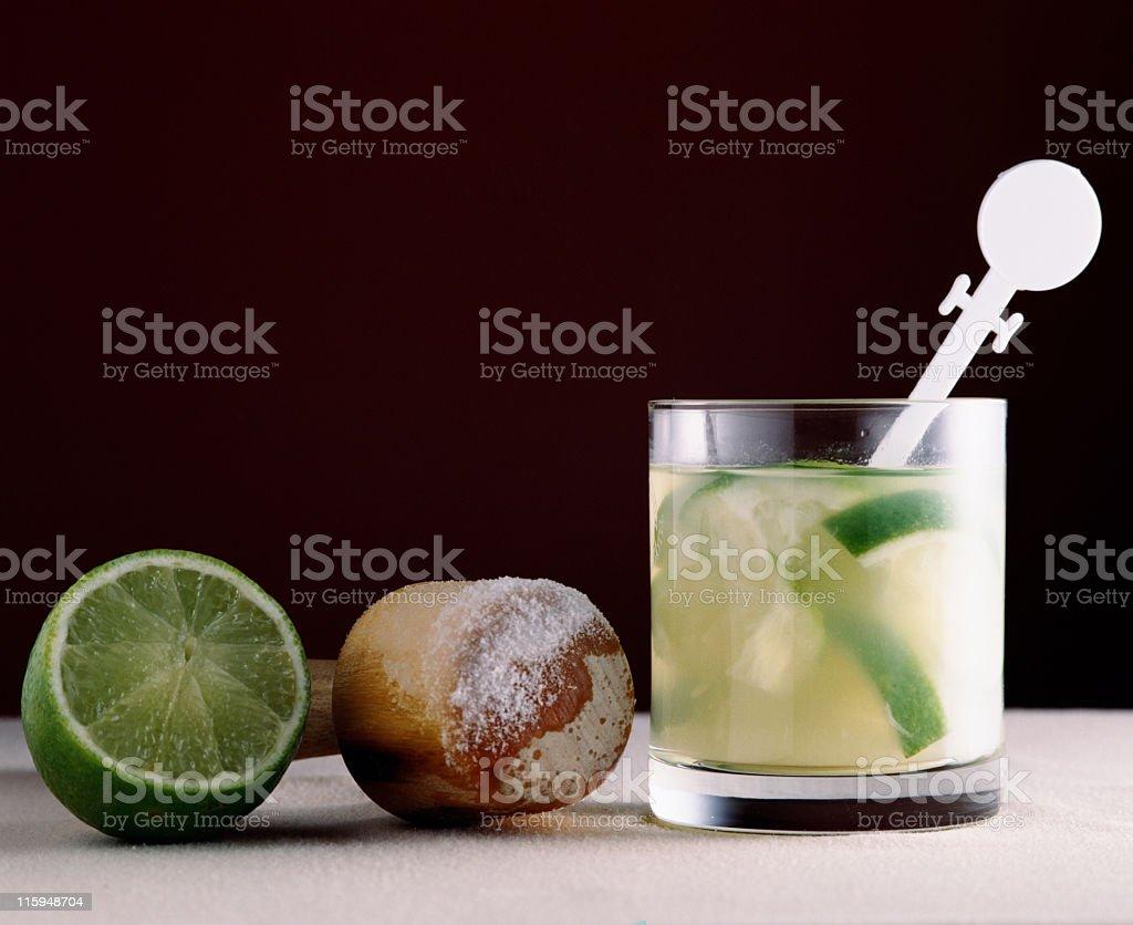 Caipirinha, a brazilian drink royalty-free stock photo