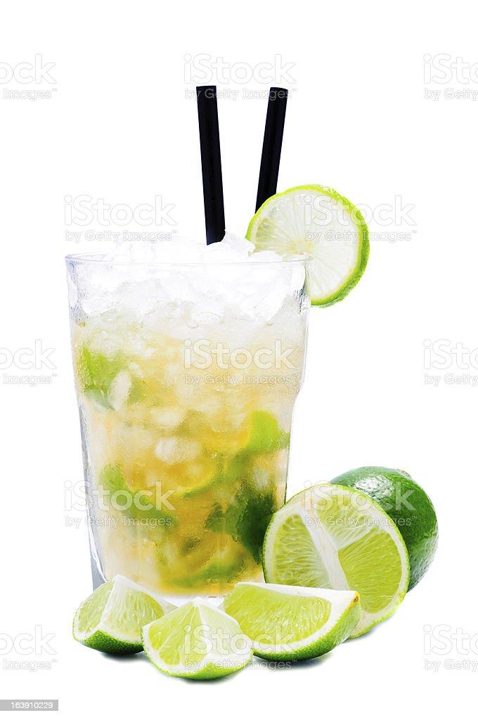 caipirinha cocktail drink stock photo