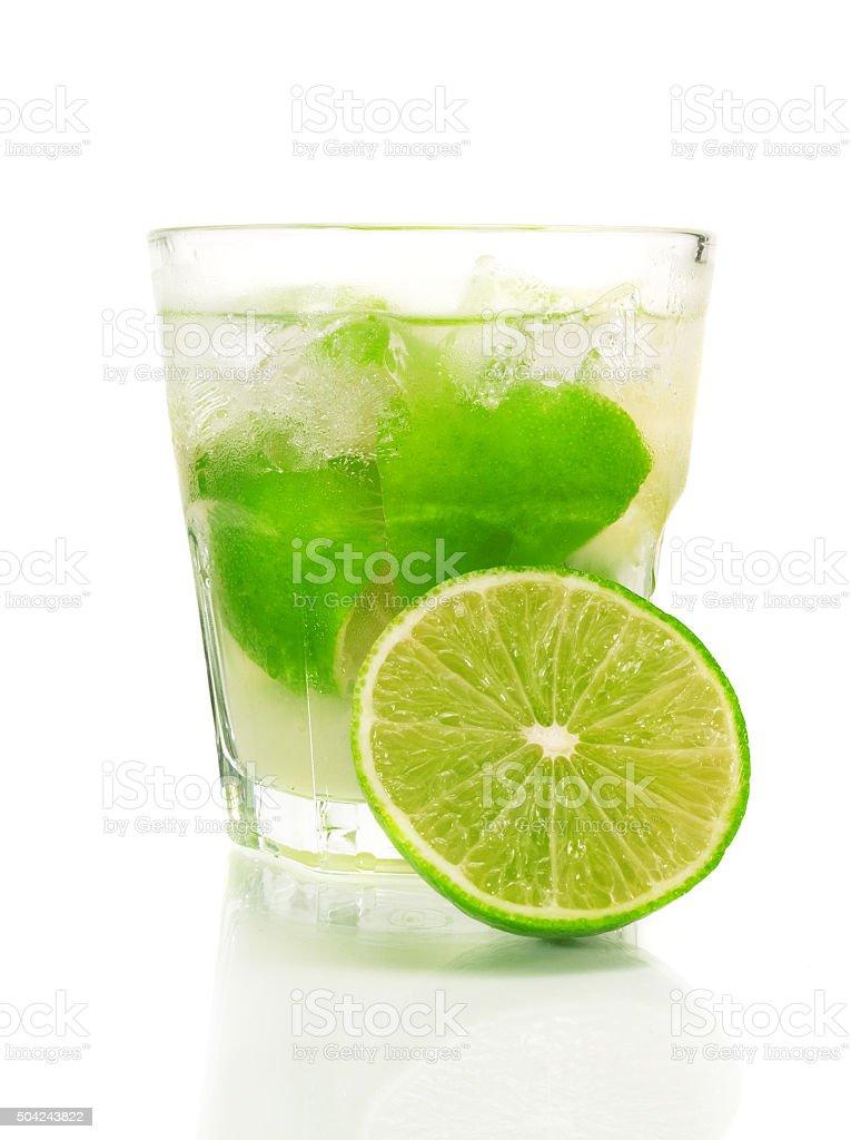 Caipirinha cocktail stock photo