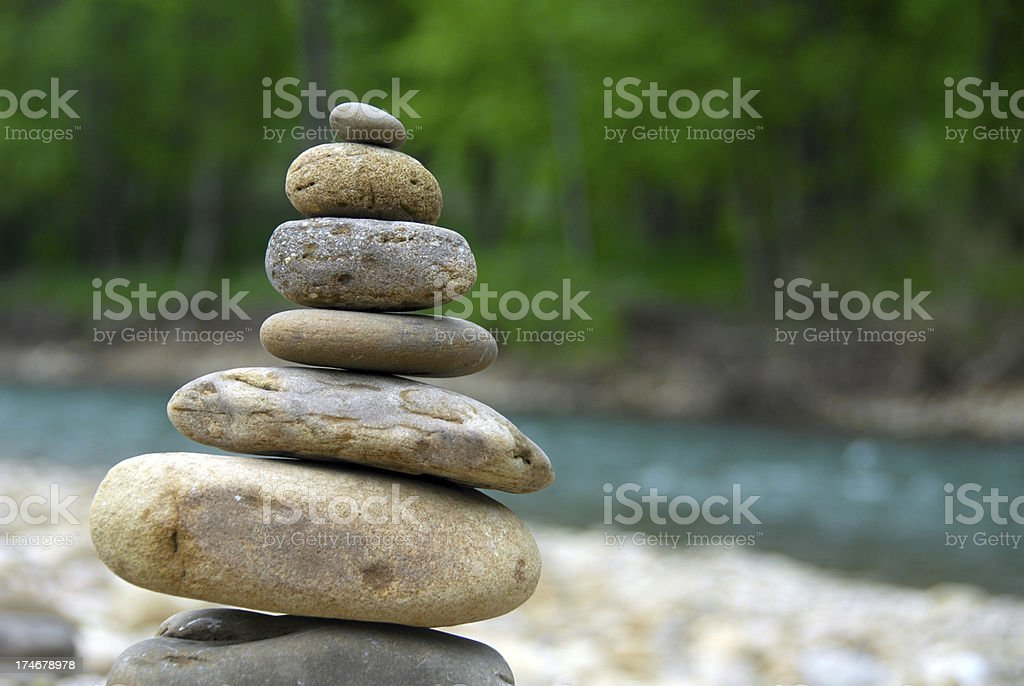 Cairn, aka Stack of Rocks stock photo