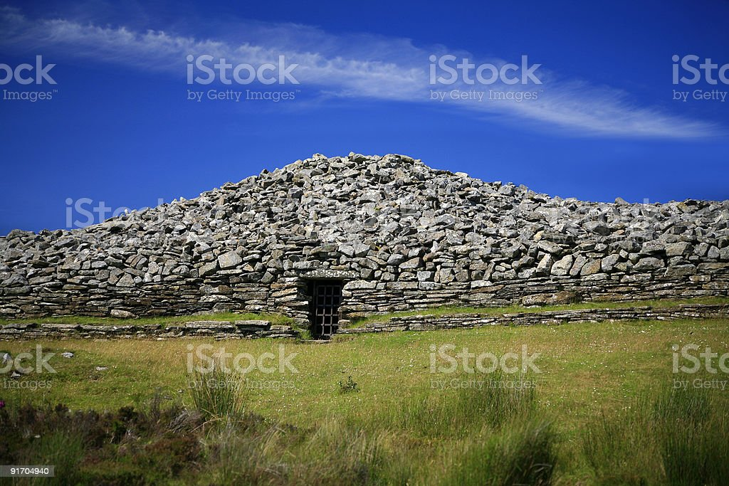 Cairn and azure sky royalty-free stock photo