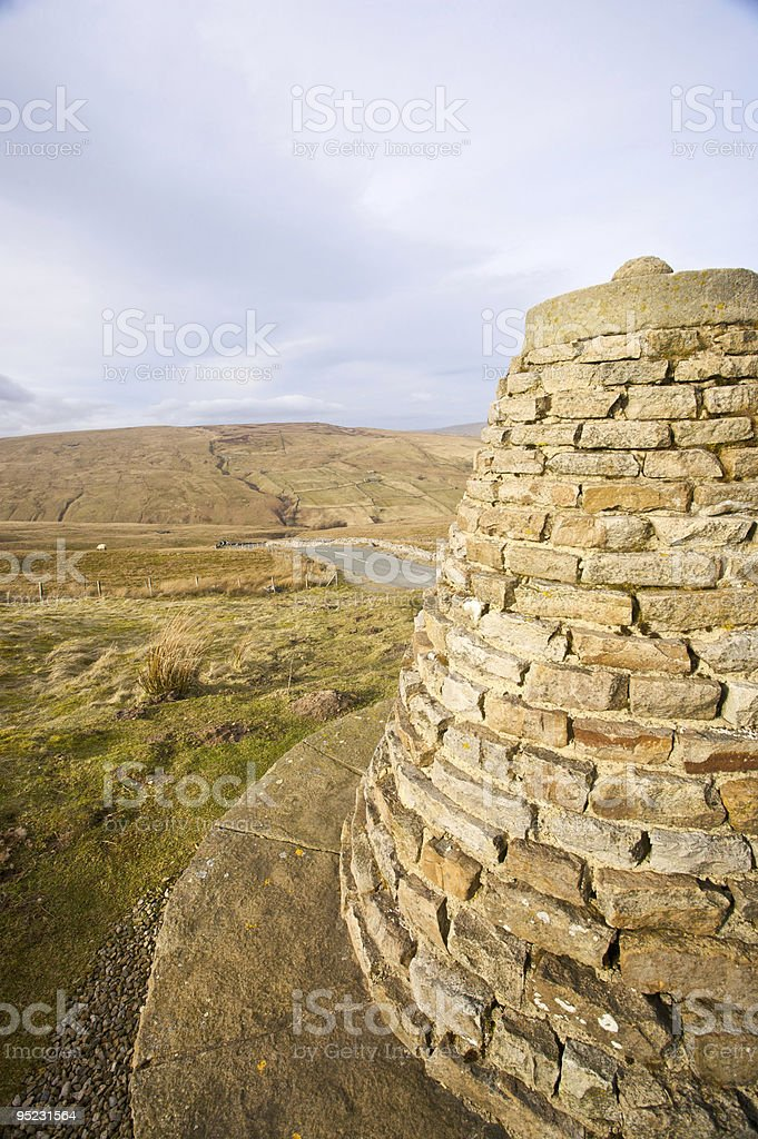 Cairn in Yorkshire stock photo